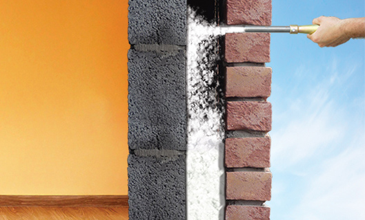 Cavity wall insulation oriel insulations for Mineral wool installation
